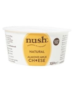 Nush Vegan Almond Cheese Style Dairy Free Spread Natural 150g