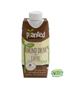 Planted Vegan Almond And Coffee Dairy Free Drink 330ml