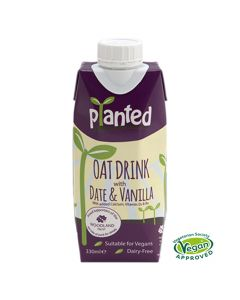 Planted Vegan Oat with Date and Vanilla Dairy Free Drink 330ml