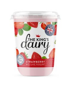 The King's Dairy Strawberry Greek Style Yogurt 450g
