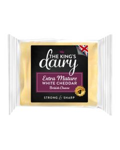 The King's Dairy Extra Mature White Cheddar Cheese 200g