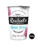 Rachel's Organic Greek Style Fat Free Natural Yogurt 450g