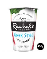 Rachel's Organic Greek Style Yogurt With Rhubarb 450g