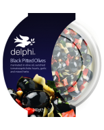 Delphi Black Pitted Kalamata Olives Herbs Gluten and Dairy Free Vegan