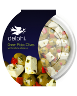 Delphi Green Pitted Olives with Feta Cheese Gluten Free