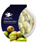 Delphi Green Stuffed Olives With Pimento Gluten and Dairy Free Vegan