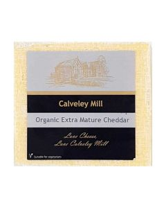 Calveley Mill Organic White Extra Mature Cheddar Cheese 200g