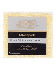 Calveley Mill Organic White Mature Cheddar Cheese 200g