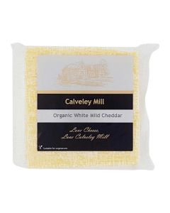 Calveley Mill Organic White Mild Cheddar Cheese 200g