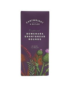 Cartwright & Butler Demerara Shortbread Rounds Carton 200g