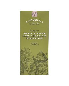 Cartwright & Butler Maple and Pecan Dark Chocolate Digestives Biscuits Carton 200g