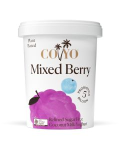 COYO Organic Dairy Free Mixed Berry Coconut Milk Yogurt 500g