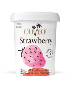 COYO Dairy Free Organic Strawberry Coconut Milk Yogurt 500g