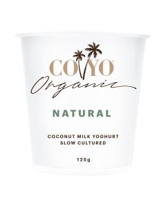 COYO Dairy Free Organic Natural Coconut Milk Yogurt 125g