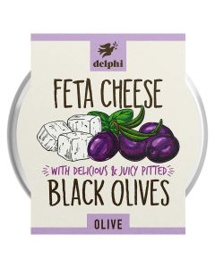 Delphi Pitted Black Olives With Feta Cheese 160g