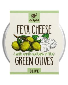 Delphi Pitted Green Olives With Feta Cheese 160g