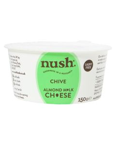Nush Vegan Almond Cheese Style Dairy Free Spread Chive 150g