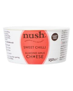 Nush Vegan Almond Cheese Style Dairy Free Spread Sweet Chilli 150g