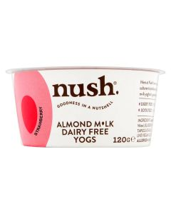 Nush Vegan Strawberry Almond Milk Dairy Free Yoghurt 120g