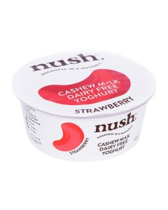 Nush Vegan Strawberry Cashew Milk Dairy Free Yoghurt 120g