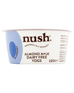 Nush Vegan Blueberry Almond Milk Dairy Free Yoghurt 120g