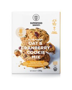 Superfood Bakery Vegan Glow Makers Oat And Cranberry Cookie Mix Gluten Free 280g