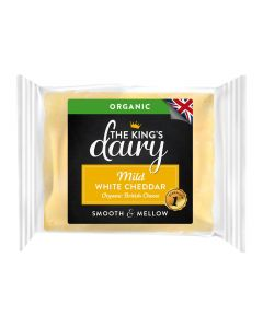The King's Dairy Organic Mild White Cheddar Cheese 200g